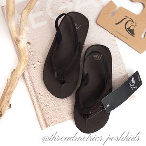 QUICKSILVER • Carver Suede (Toddler) Flip Flops